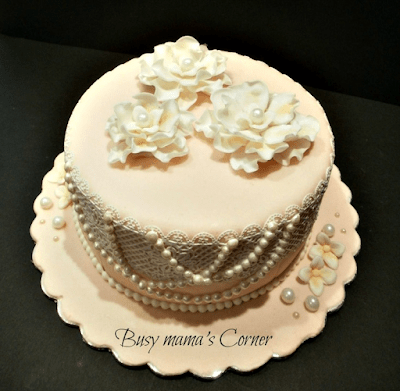 shabby chic bachelorette party cake