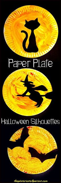 Paper plate halloween Witch